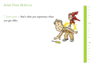 Joint pain relievers-Joint pain reliever