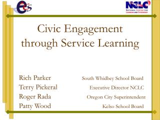Civic Engagement  through Service Learning