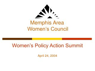 Women's Policy Action Summit April 24, 2004