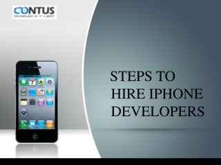 Steps to hire iPhone developers