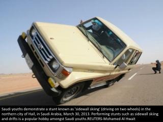 Saudi stunt driving