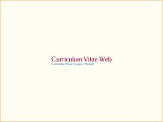 Curriculum Vitae Esempi e Modelli
