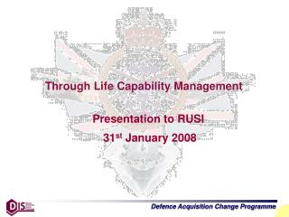 Through Life Capability Management