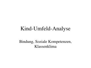 Kind-Umfeld-Analyse