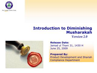 Concept of  Diminishing Musharakah