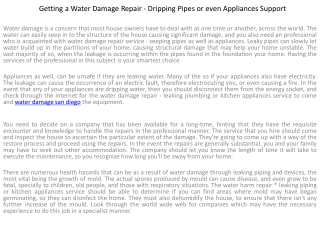 Getting a Water Damage Repair