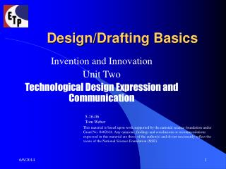 Design/Drafting Basics