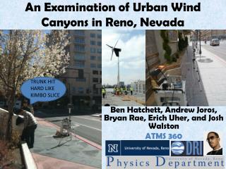 An Examination of Urban Wind Canyons in Reno, Nevada