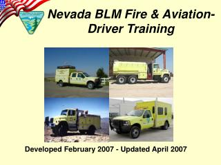 Nevada BLM Fire & Aviation- Driver Training