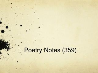 Poetry Notes (359)