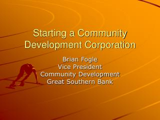 Starting a Community Development Corporation