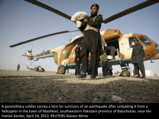 Earthquake aftermath in Pakistan