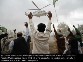 Election rallies in Pakistan