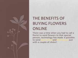 The Benefits of Buying Flowers Online