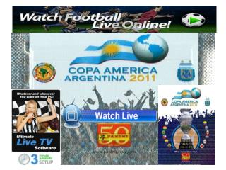 watch copa america 2011 live streaming match.