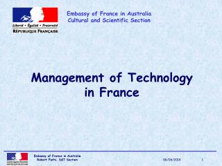 Management of Technology in France