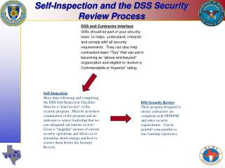 Self-Inspection and the DSS Security Review Process