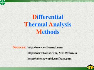 Sources: e-thermal    tainst, Eric Weisstein    scienceworld.wolfram