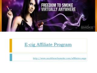 E-cig Affiliate Program