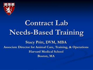 Contract Lab  Needs-Based Training