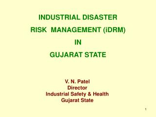 V. N. Patel Director Industrial Safety & Health Gujarat State