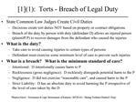 [1]1:  Torts - Breach of Legal Duty