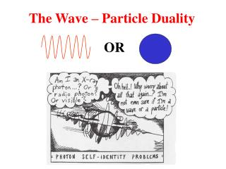 The Wave – Particle Duality