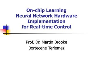 On-chip Learning  Neural Network Hardware Implementation  for Real-time Control