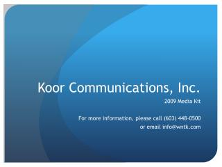 Koor Communications, Inc.