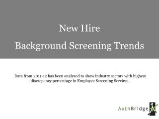 Background Screening Trends