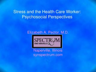 Stress and the Health Care Worker: Psychosocial Perspectives
