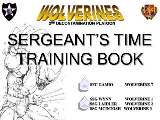 SERGEANT'S TIME TRAINING BOOK