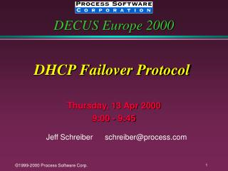DHCP Failover Protocol