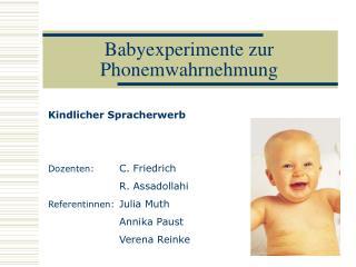 Babyexperimente zur Phonemwahrnehmung