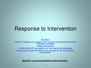 Response to Intervention