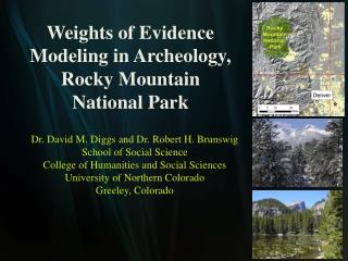Weights of Evidence Modeling in Archeology, Rocky Mountain National Park
