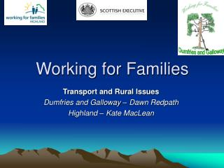 Working for Families