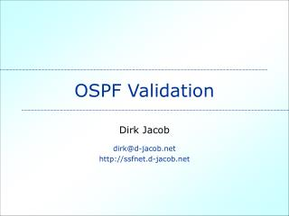 OSPF Validation