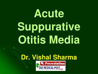 Acute Suppurative Otitis Media