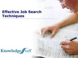 Effective Job Search  Techniques
