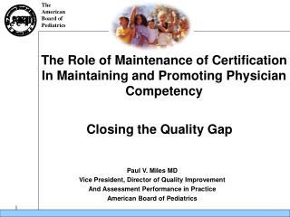 Closing the Quality Gap