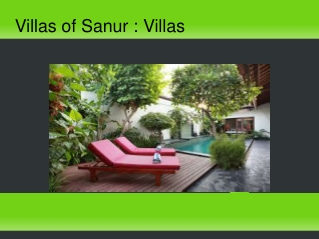 Villas of Sanur : Villas