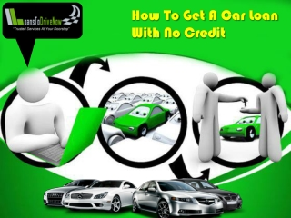 How To Get Financing For A Car With No Credit History
