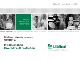 Littelfuse University presents Webcast 27