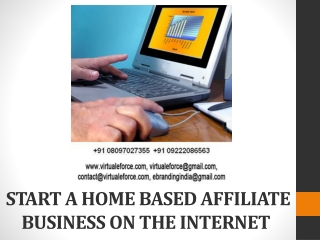 START A HOME BASED AFFILIATE BUSINESS ON THE INTERNET