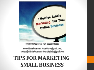 TIPS FOR MARKETING YOUR ONLINE BUSINESS