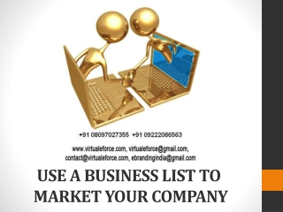 USE A BUSINESS LIST TO MARKET YOUR COMPANY