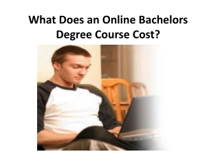 What Does an Online Bachelors Degree Course Cost?