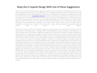 Keep the In Superb Design With one of