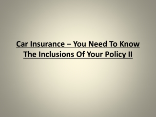 Car Insurance - Understand your coverage